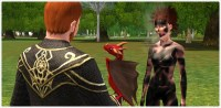 Dragon rouge dans Les Sims 3 Dragon Valley