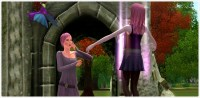 Dragon violet dans Les Sims 3 Dragon Valley